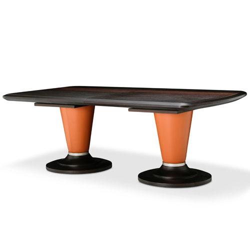 Mesa rectangular de comedor 21 Cosmopolitan base naranja
