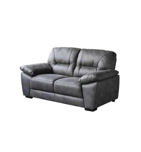 Avanti Dark Grey Soft-Touch Fabric Loveseat