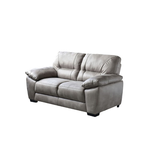 Avanti Taupe Soft-Touch Fabric Loveseat