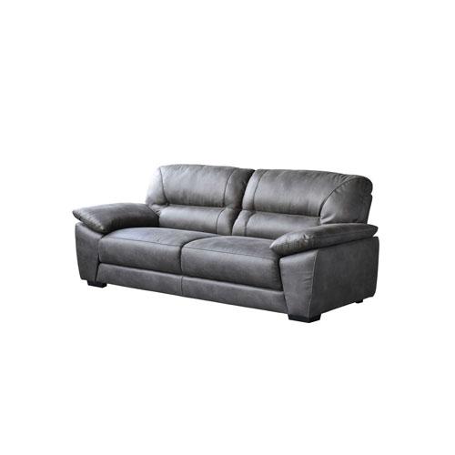 Avanti Dark Grey Soft-Touch Fabric Sofa