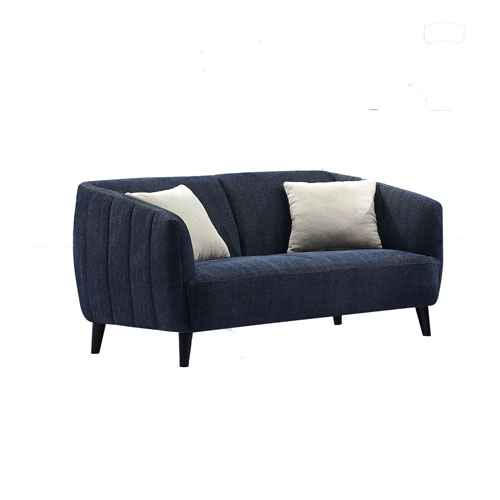 DeLuca Midnight Blue Fabric Loveseat