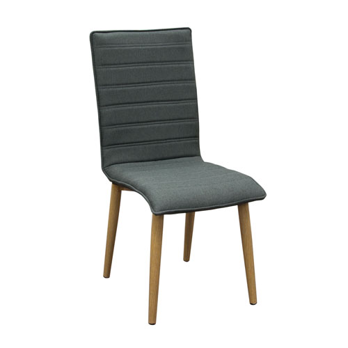 Set of (2) Element Dining Chairs in Graphite Grey Fabric
