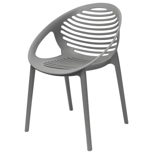 Expo 4-Pack Indoor/Outdoor Accent Chairs in Grey Polypropylene (Mínimo de compra 4 piezas)