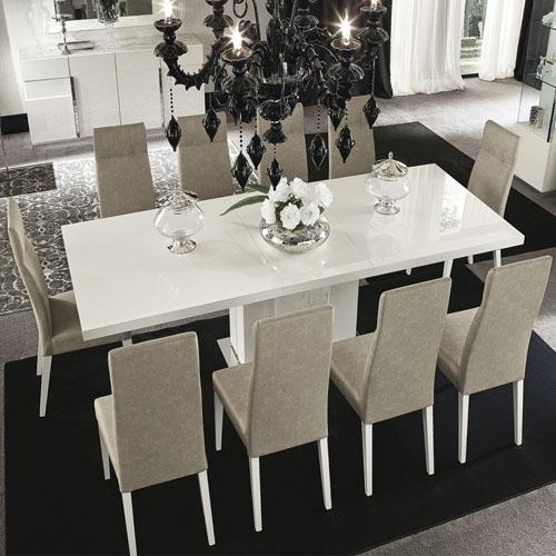 Comedor Canova mesa rectangular con 8 sillas