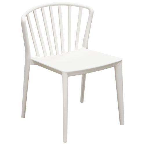 Pax 4-Pack Indoor/Outdoor Accent Chairs in White Polypropylene (Mínimo de compra 4 piezas)