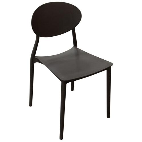 Pixel 4-Pack Indoor/Outdoor Accent Chairs in Black Polypropylene (Mínimo de compra 4 piezas)