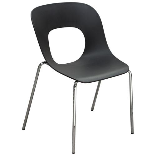 Spot 4-Pack Indoor/Outdoor Accent Chairs in Black Polypropylene (Mínimo de compra 4 piezas)
