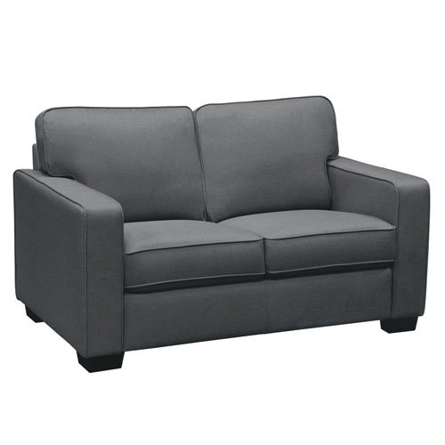 Watson Loveseat in Dark Grey Fabric