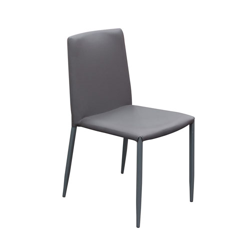 2-Pack Stackable Dining Chairs in Grey with Metal Legs (Mínimo de compra 2 piezas)