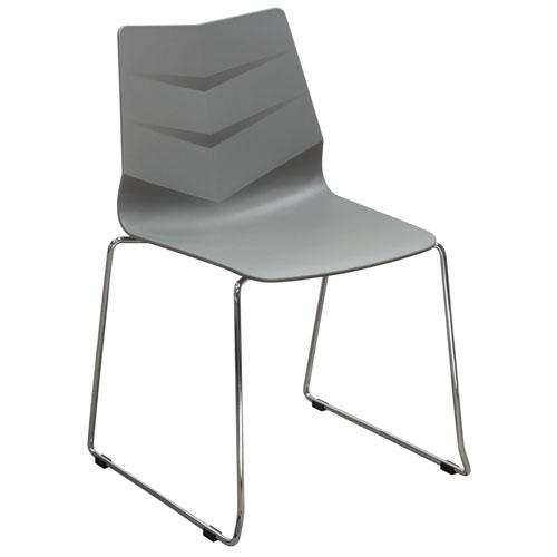 Leaf 4-Pack Indoor/Outdoor Accent Chairs in Grey Polypropylene (Mínimo de compra 4 piezas)