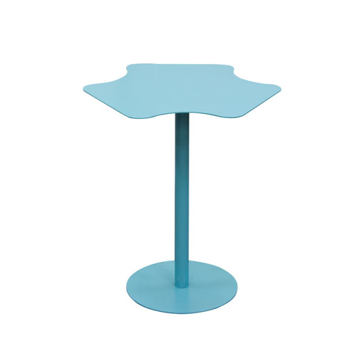 Peta Powder Coated Metal Accent Table in Matte Turquoise finish