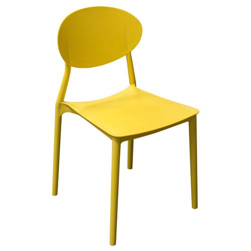Pixel 4-Pack Indoor/Outdoor Accent Chairs in Yellow Polypropylene (Mínimo de compra 4 piezas)