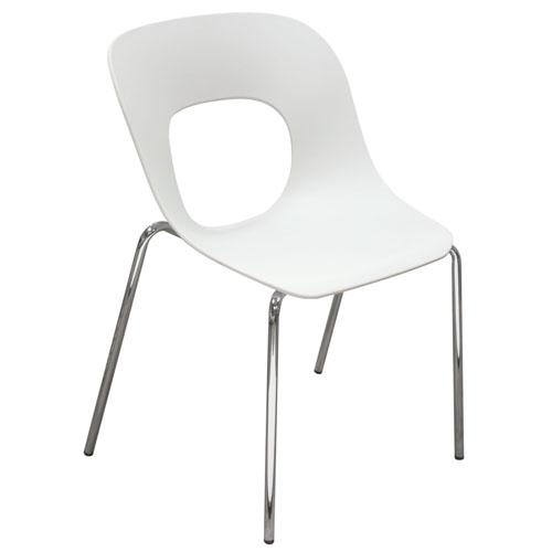 Spot 4-Pack Indoor/Outdoor Accent Chairs in White Polypropylene (Mínimo de compra 4 piezas)