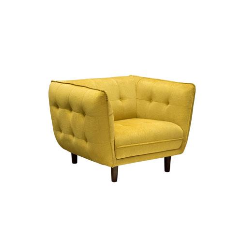 Venice Button Tuft Fabric Chair