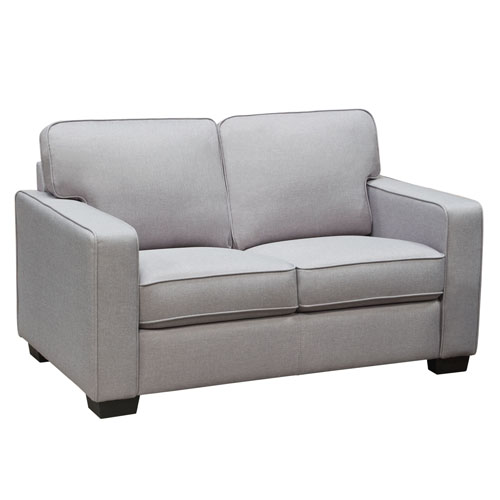 Watson Loveseat in Light Grey Fabric